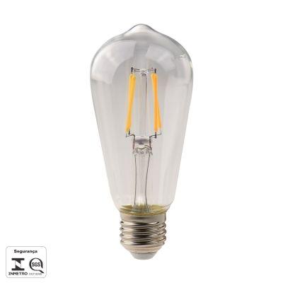 LAMPADA DE FILAMENTO DE LED ST58 E27 4,5W 480LM 2700K 127V LP159C  - OUTLED ILUMINAÇÃO