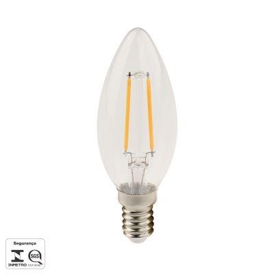 LAMPADA FILAMENTO DE LED VELA E14 2,5W 250LM 2700K BIV LP176C  - OUTLED ILUMINAÇÃO