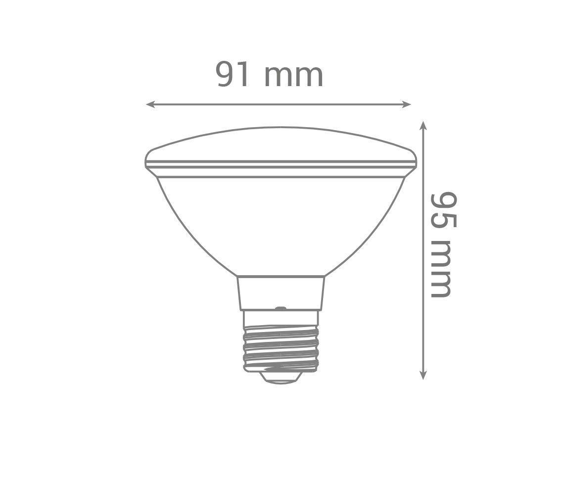 Lâmpada Led 10w 3000k Par30 Uso Externo Branco Quente Bivolt E27 Lp36007  - OUTLED ILUMINAÇÃO