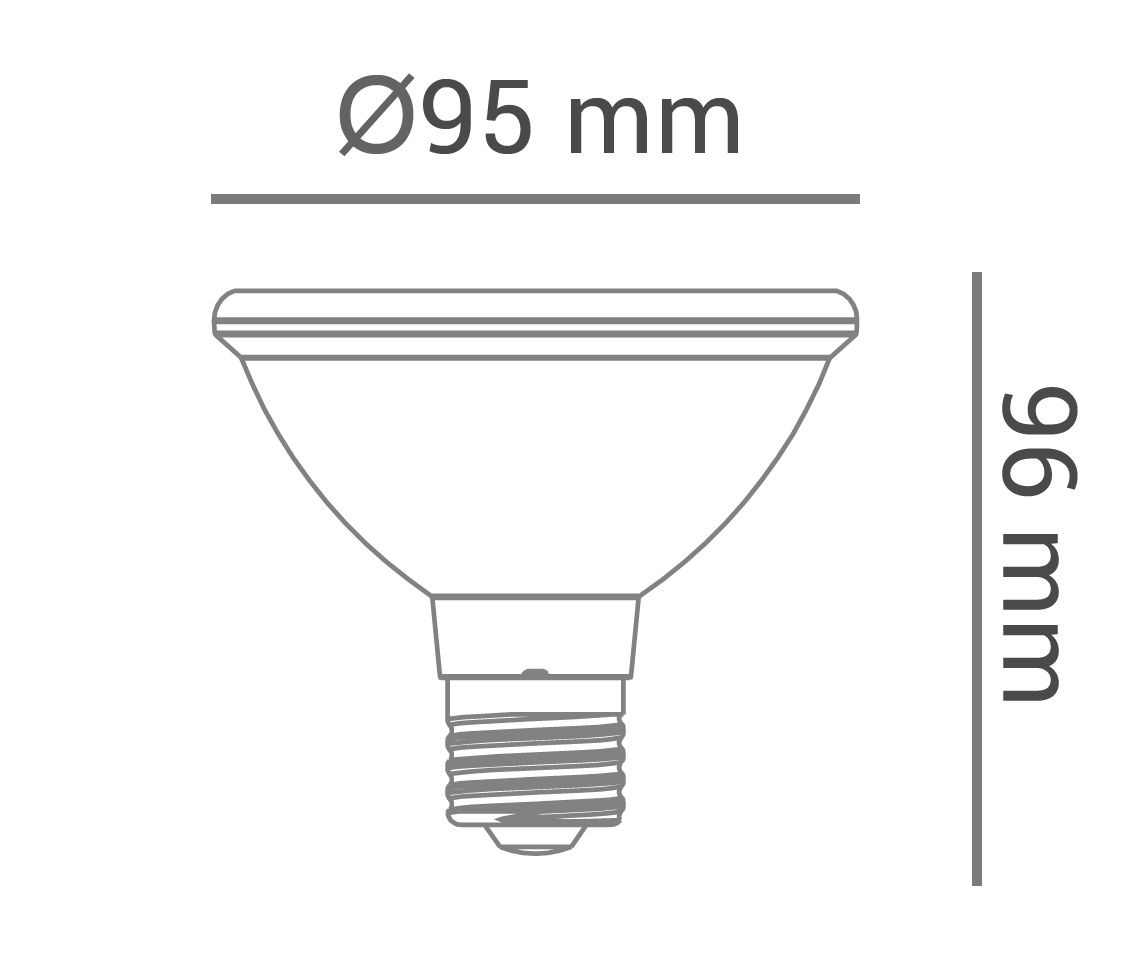 Lâmpada Led 11w 2700k Branco Quente Par30 Dimerizável E27 Bivolt LP31057  - OUTLED ILUMINAÇÃO