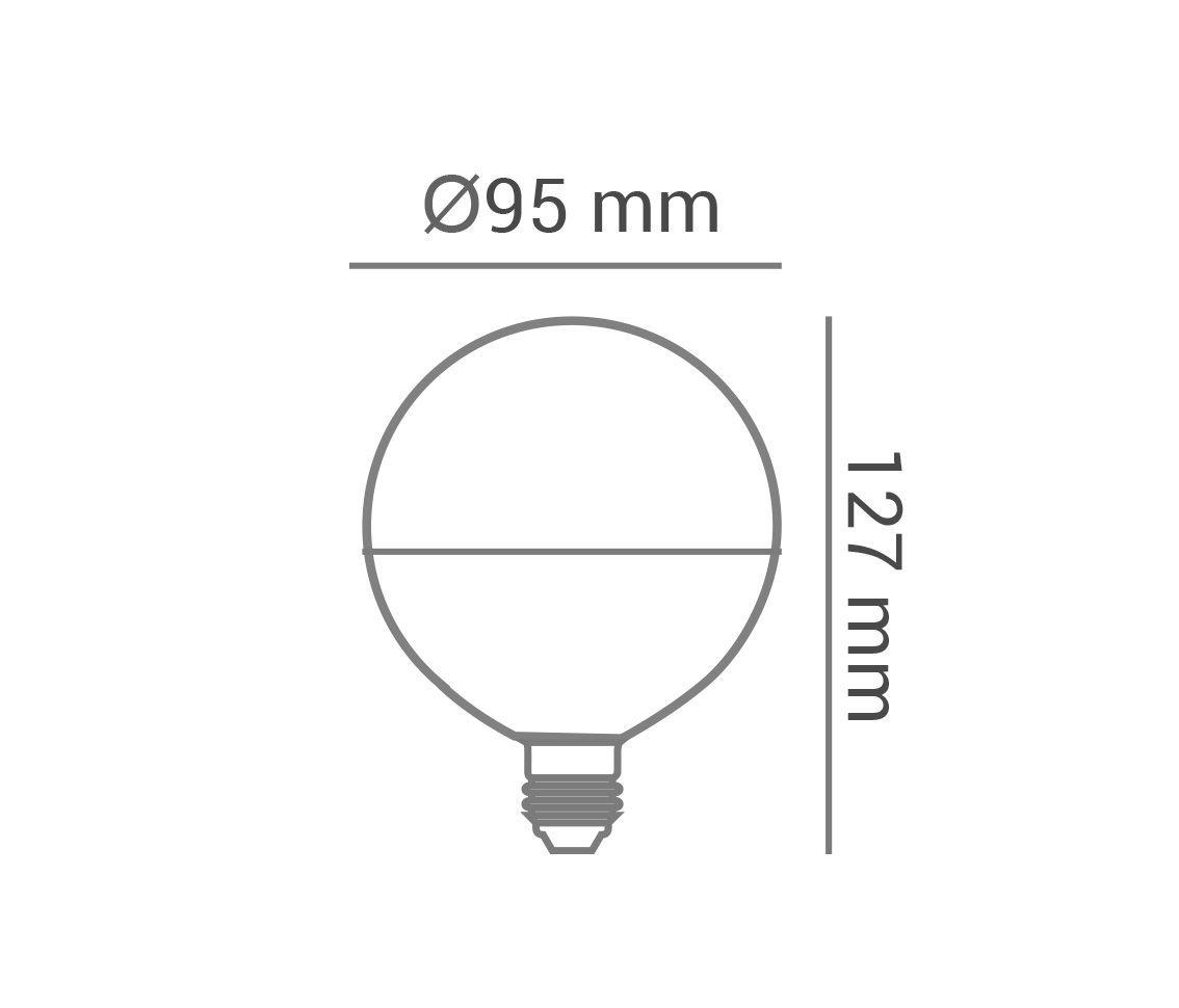 Lâmpada Led 12w 2700k Branco Quente Bulbo G95 E27 Bivolt LP34195  - OUTLED ILUMINAÇÃO