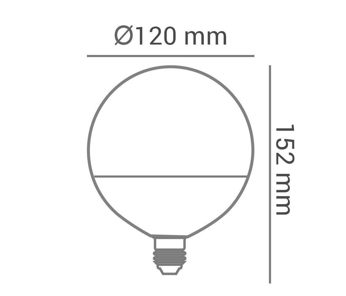 Lâmpada Led 15w 2700k Branco Quente Bulbo G120 E27 Bivolt LP34218  - OUTLED ILUMINAÇÃO