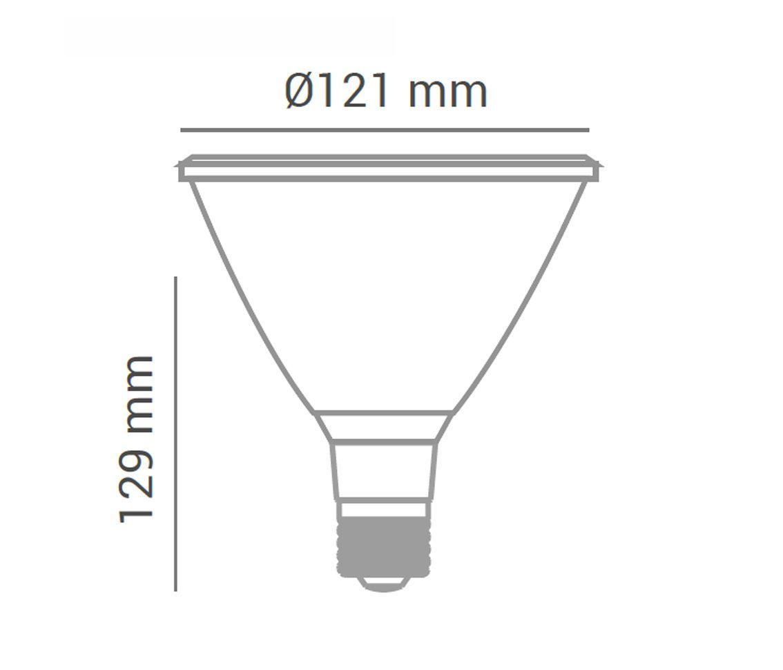 Lampada Led PAR38 15w 6000k Par38 Branco Frio E27 Bivolt LP 35970