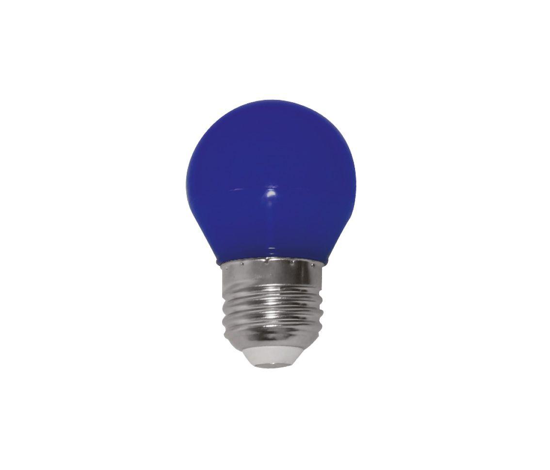 Lâmpada Led 3w Bolinha G45 Color Azul E27 Bivolt LP33105  - OUTLED ILUMINAÇÃO