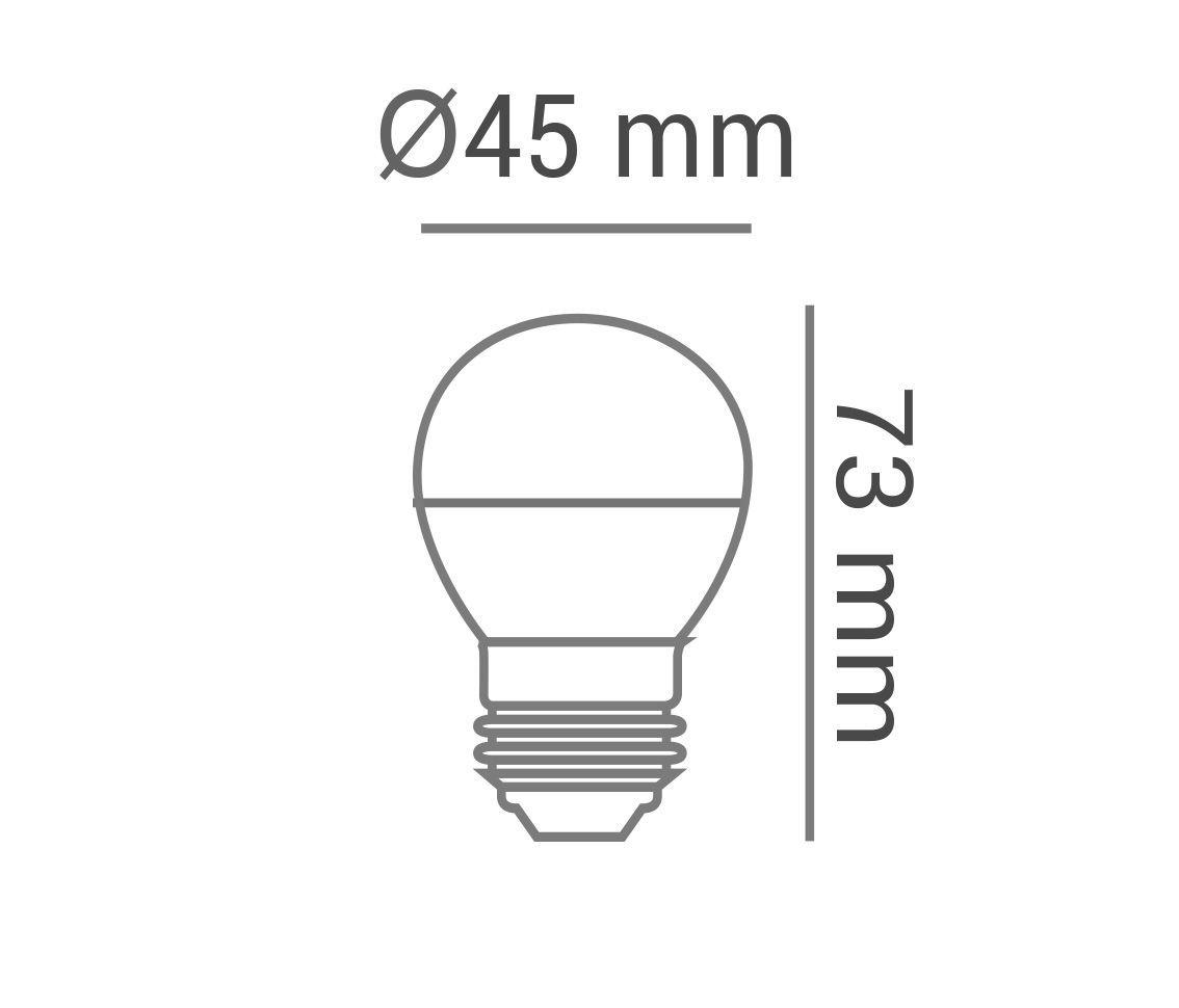 Lâmpada Led 3w Bolinha G45 Color Laranja E27 Bivolt LP33136