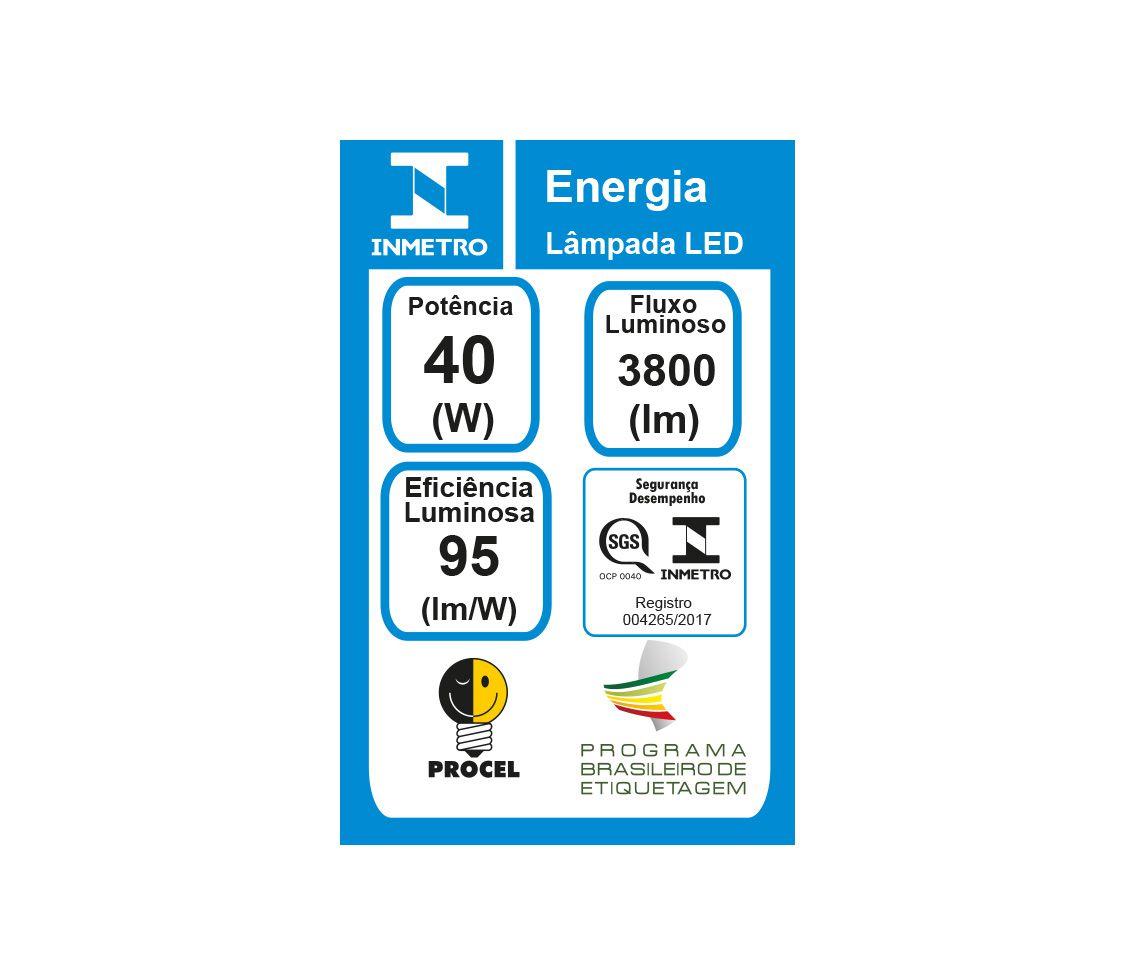 LÂMPADA LED 40W 6500K TUBULAR T8 BRANCO FRIO G13 BIVOLT LP35307  - OUTLED ILUMINAÇÃO