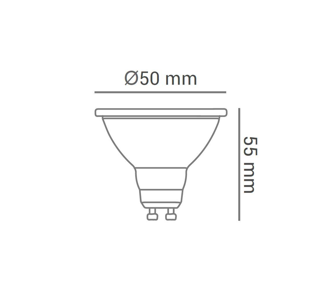 Kit 10 Lâmpada Led 4.8w 2700k Mr16 Branco Quente Gu10 Bivolt Lp30661  - OUTLED ILUMINAÇÃO