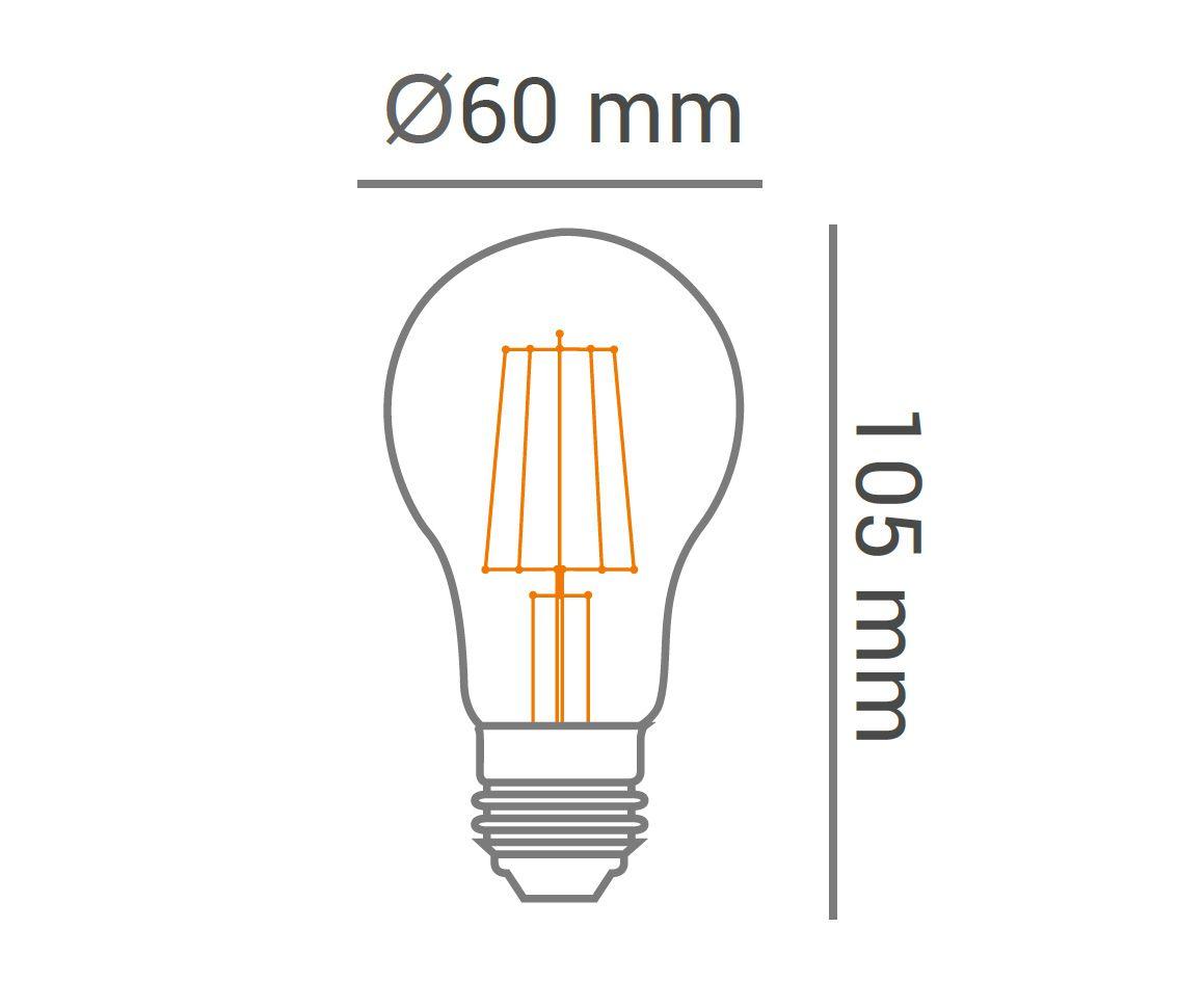 Lâmpada Led 4w 2200k Branco Quente Bulbo A60 Carbon E27 Bivolt LP33365  - OUTLED ILUMINAÇÃO