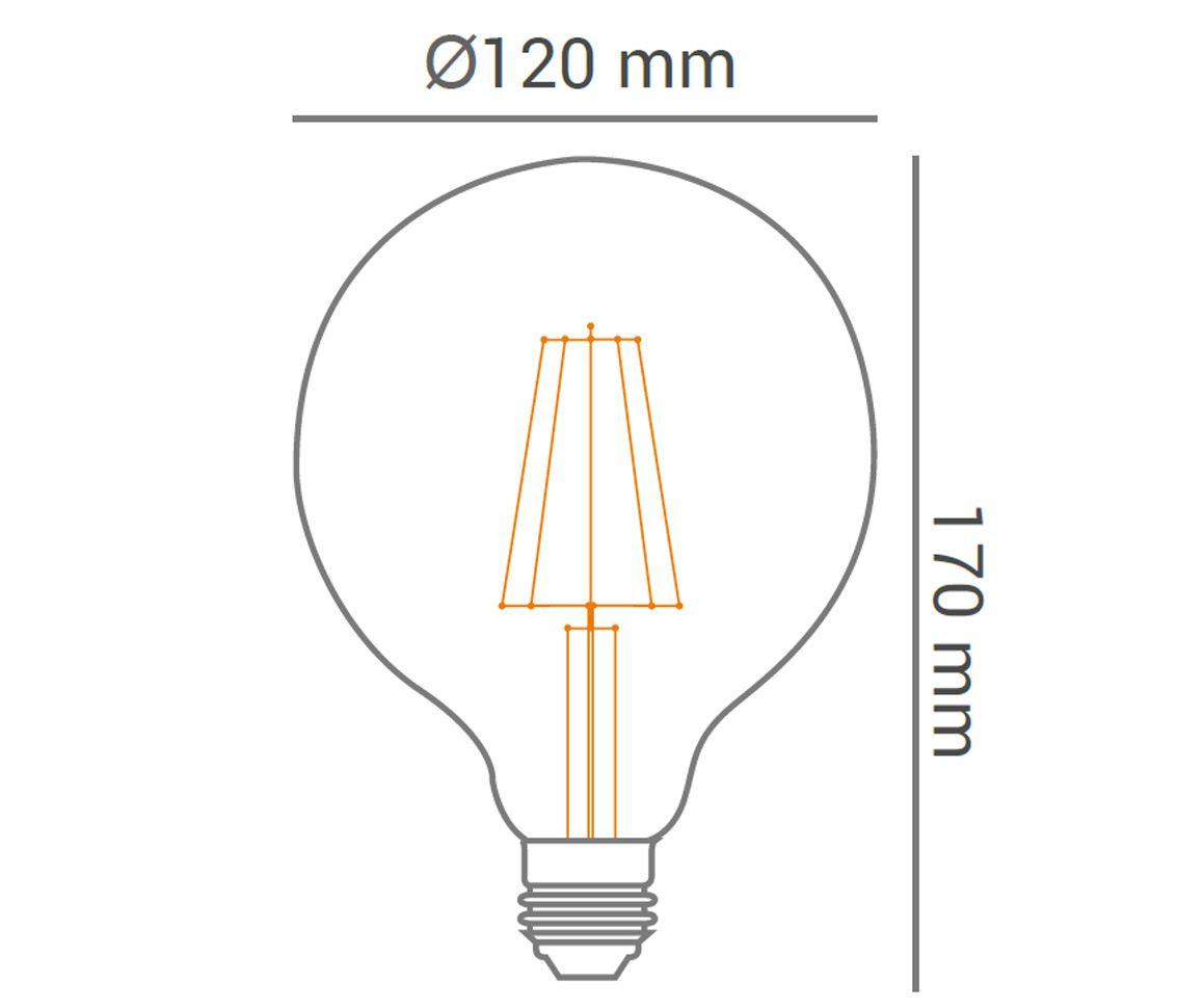 Lâmpada Filamento Led 4w G120 Ballon Decorativa Ambar 2200K LP33358  - OUTLED ILUMINAÇÃO