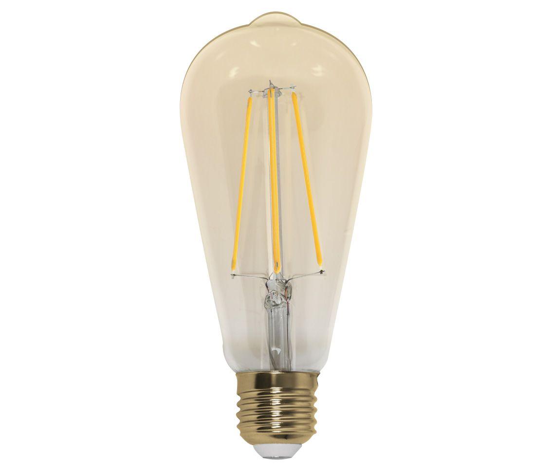 Lâmpada Filamento Led 4w ST64 Decorativa Ambar 2200K LP33372