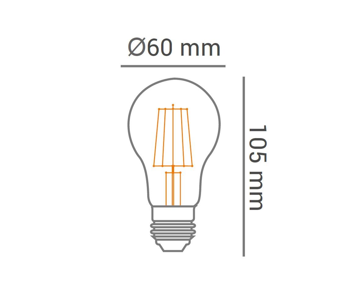 Lâmpada Filamento Bulbo 4w LED 2400k Branco Quente A60 E27 Bivolt LP 31828