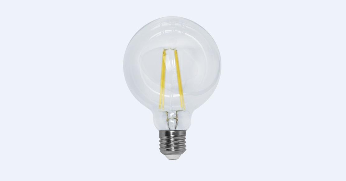 Lâmpada Led 4w 2700k Branco Quente G95 Filamento E27 Bivolt LP34829  - OUTLED ILUMINAÇÃO
