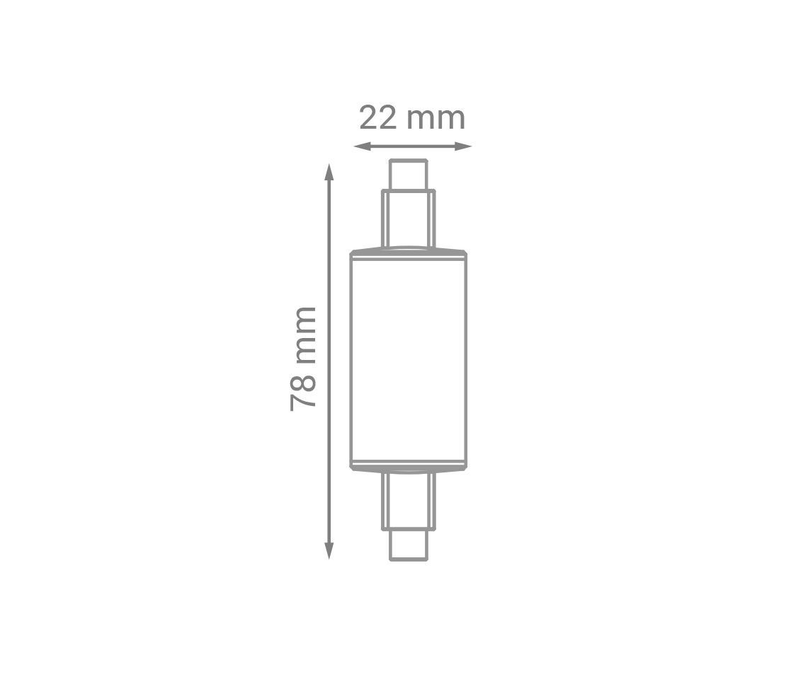 Lâmpada Led 5w 3000k Branco Quente R7s Bivolt LP32740