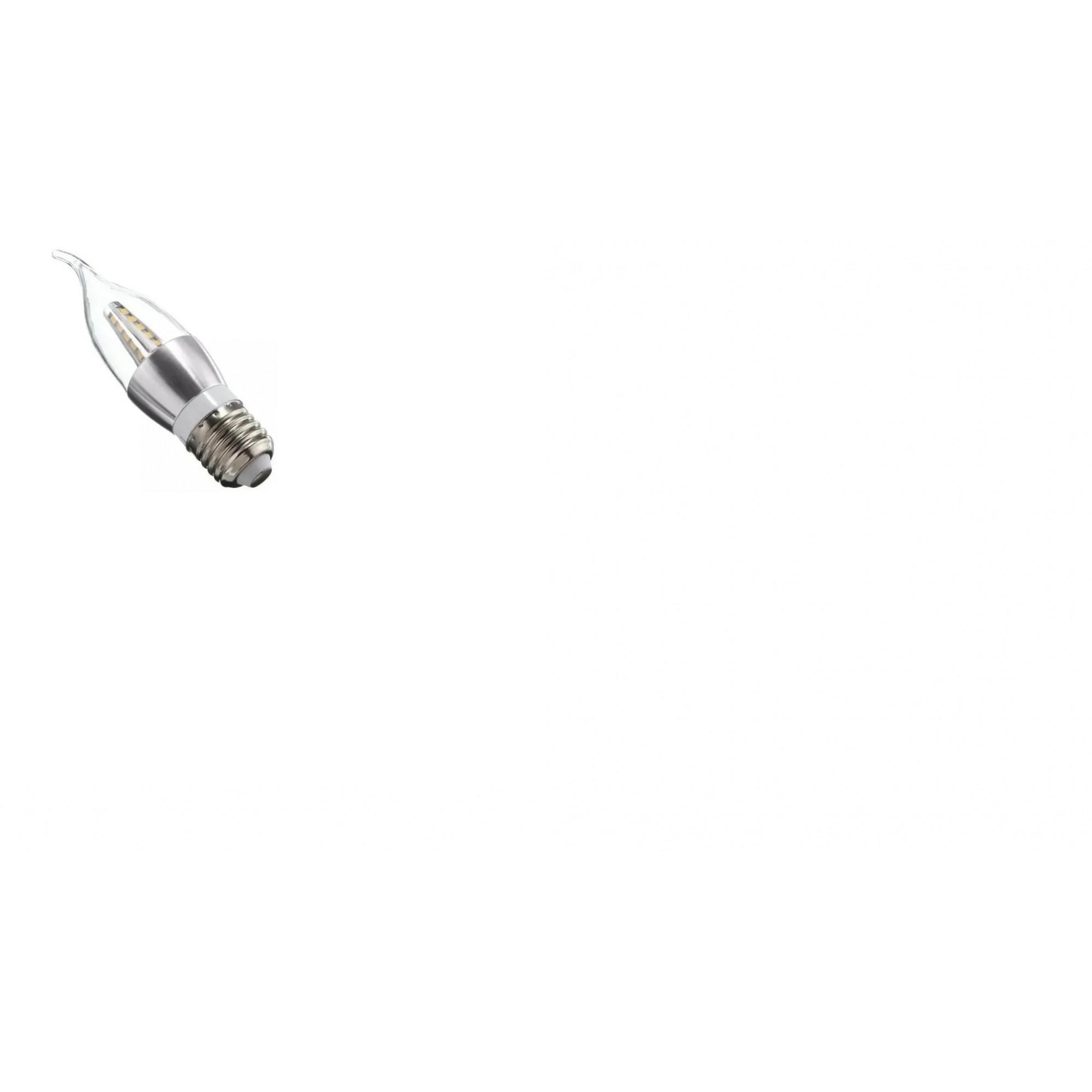 Lampada LED 5w 6000K Vela Chama Cristal E27 Branco Frio Com Bico  - OUTLED ILUMINAÇÃO
