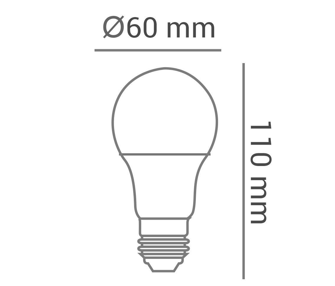 LÂMPADA LED 6W BULBO A60 COLOR AMARELA E27 BIVOLT LP35680  - OUTLED ILUMINAÇÃO