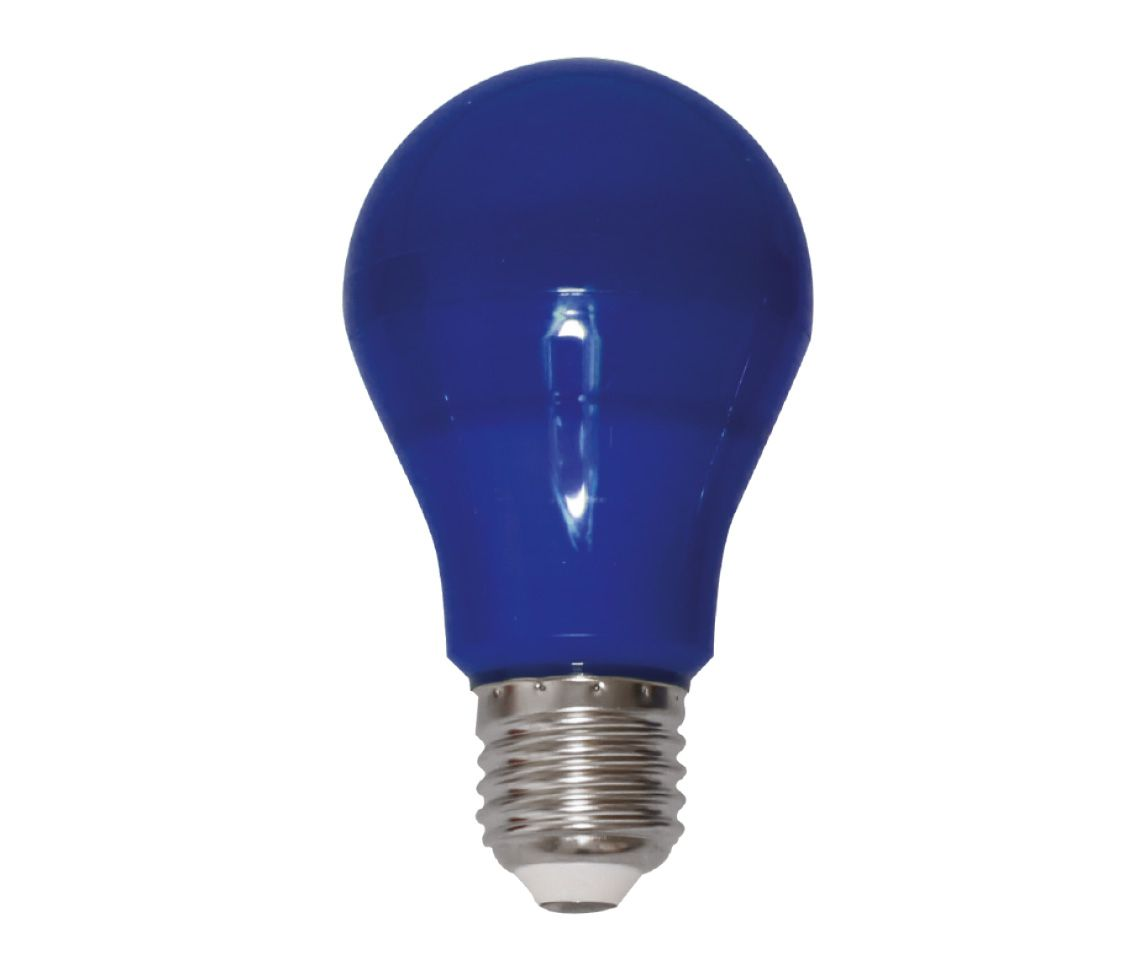 Lâmpada Led 6w Bulbo A60 Color Azul E27 Bivolt LP33143