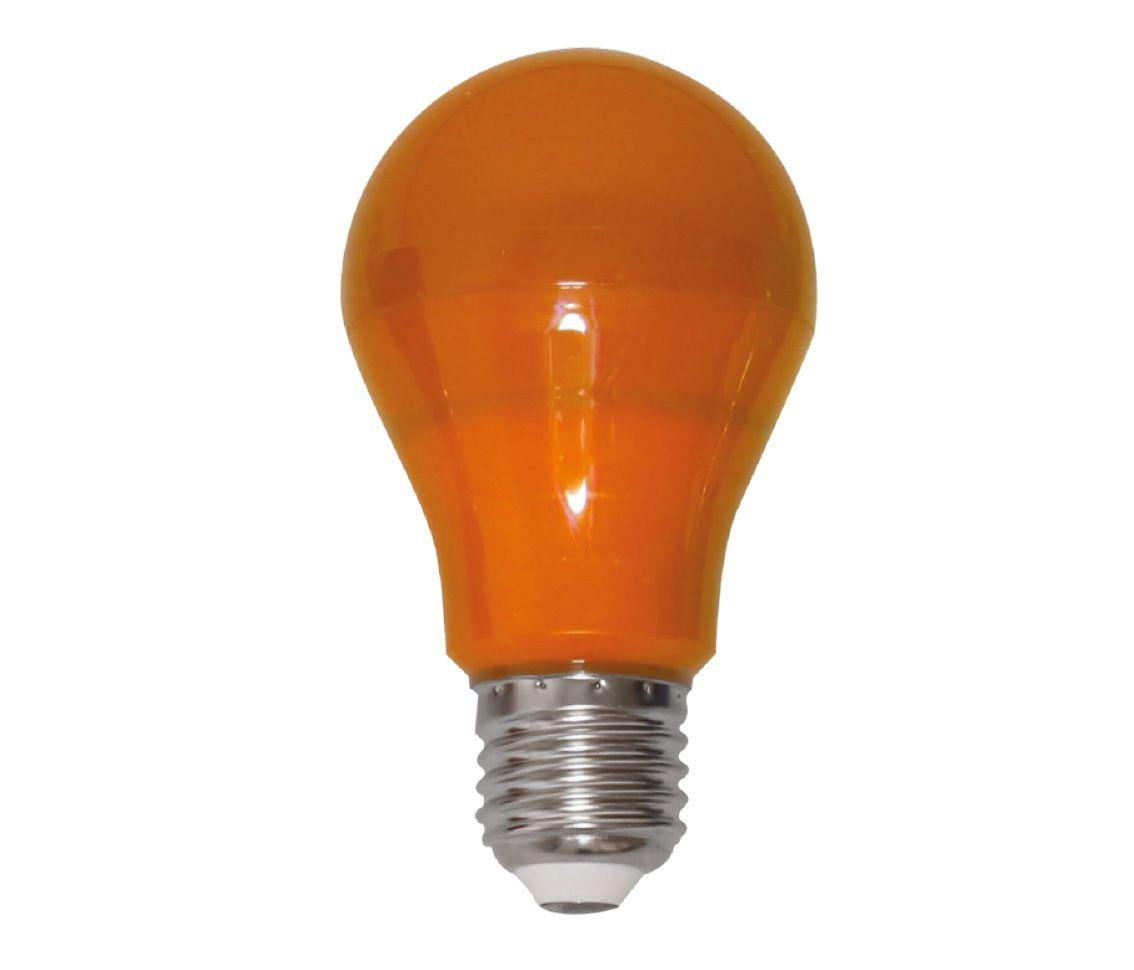 Lampada Led 6w Bulbo A60 Color Laranja E27 Bivolt Lp33174  - OUTLED ILUMINAÇÃO