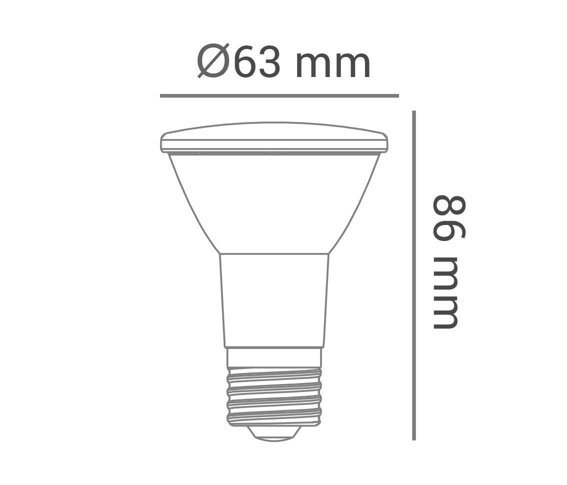 Lâmpada Led 6w Par20 Color Âmbar E27 Bivolt LP32429