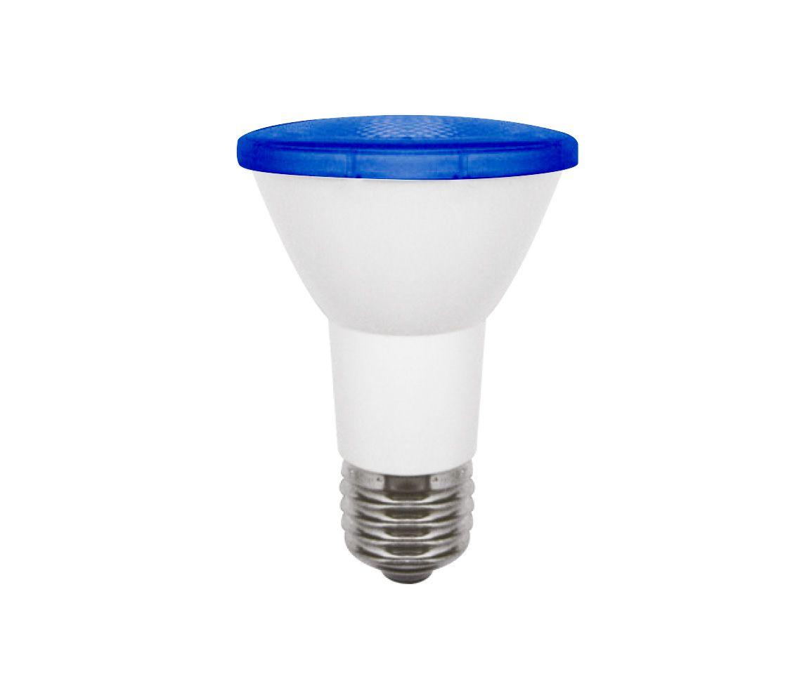 Lâmpada Led 6w Par20 Color Azul E27 Bivolt LP32412