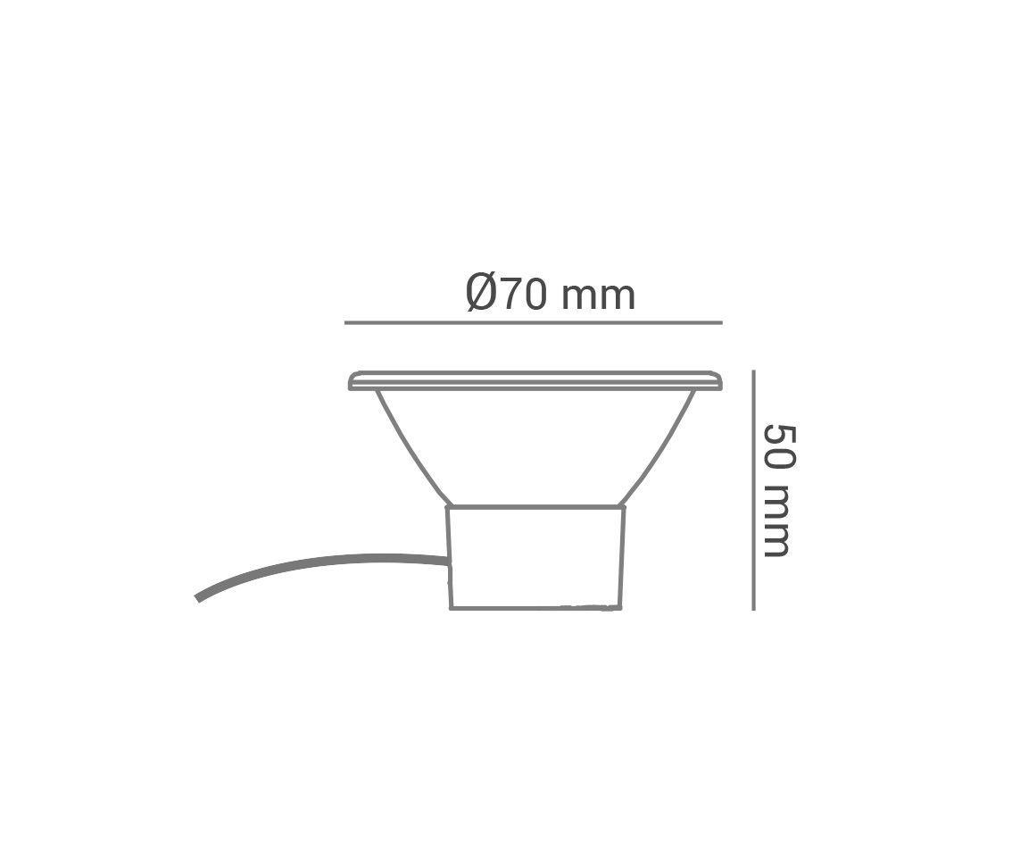 Lampada Led AR70 7w 2700k Branco Quente COB Bivolt Eco 32665