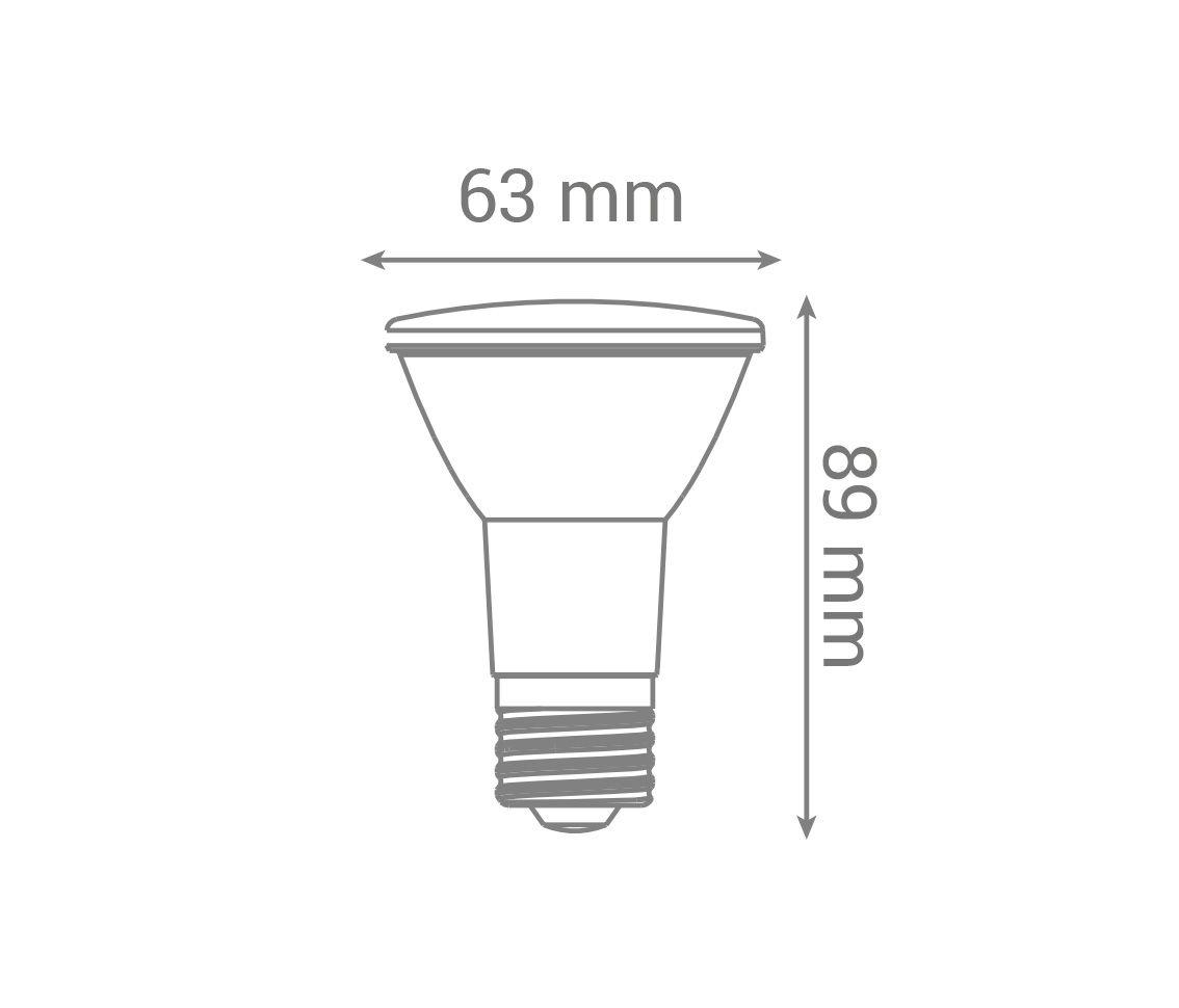 Lâmpada PAR20 7w LED 6000k Branco Frio Uso Externo E27 Bivolt LP 36014