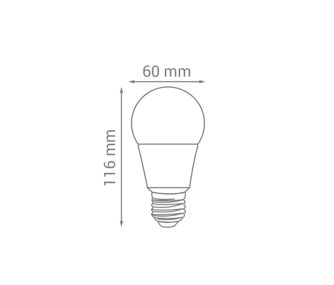 Lâmpada LED 12v Bulbo 9w 6500k A60 Branco Frio E27 12v LP31132  - OUTLED ILUMINAÇÃO
