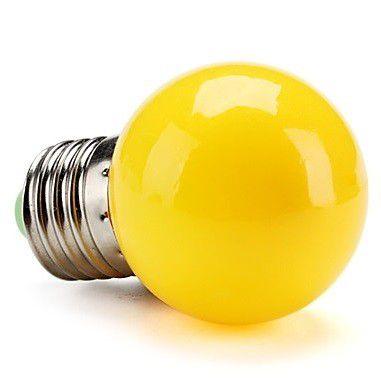 Lampada LED 1w 127v Bolinha Amarela  - OUTLED ILUMINAÇÃO