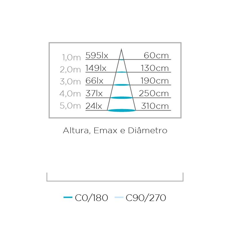 Lampada LED Dicroica 3w 3000k GU10 MR16 Stella STH8533/30