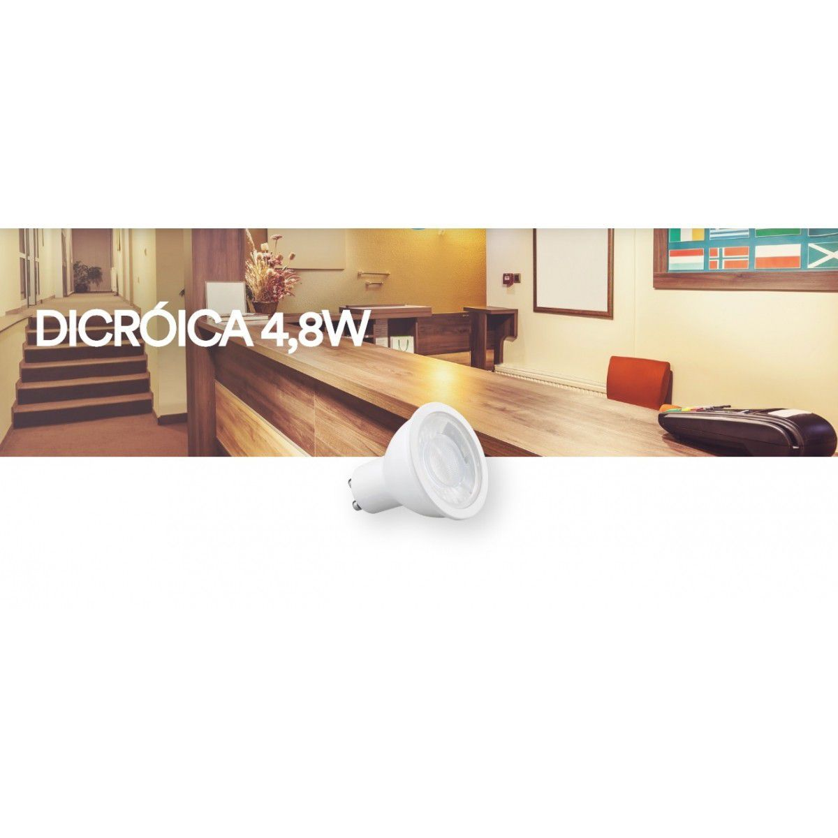 Lampada LED 4.8w 6500K Dicroica GU10 Save Energy SE 130.1100  - OUTLED ILUMINAÇÃO