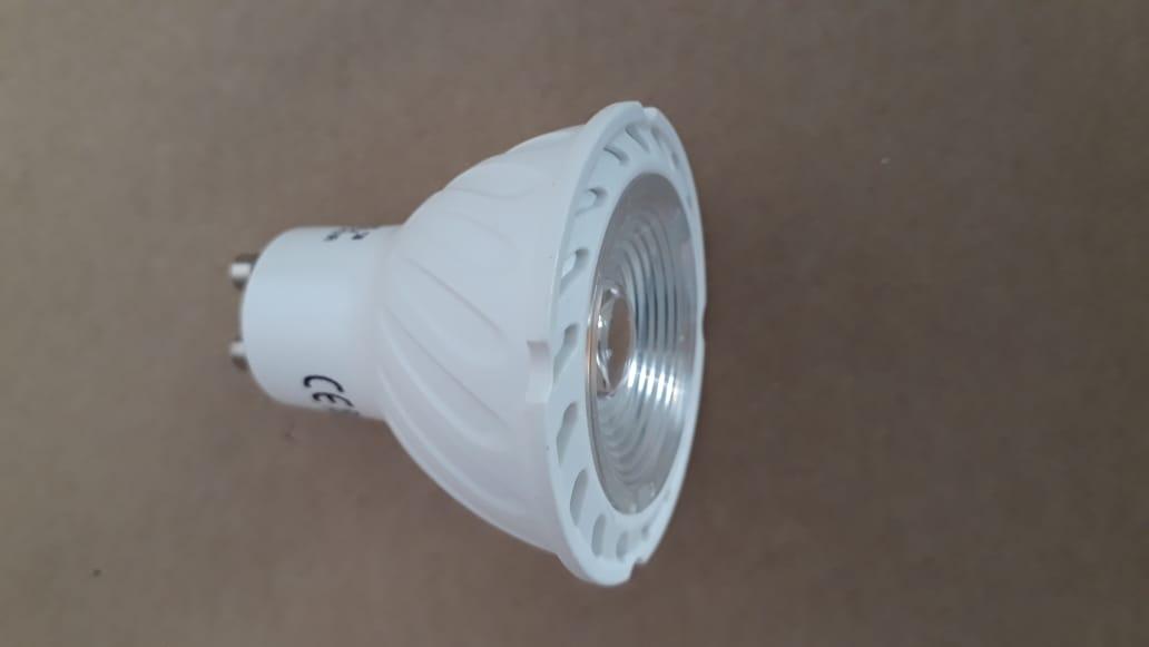 Lampada LED Dicroica 5w GU10 COB Bivolt Branco Quente 3000K  - OUTLED ILUMINAÇÃO