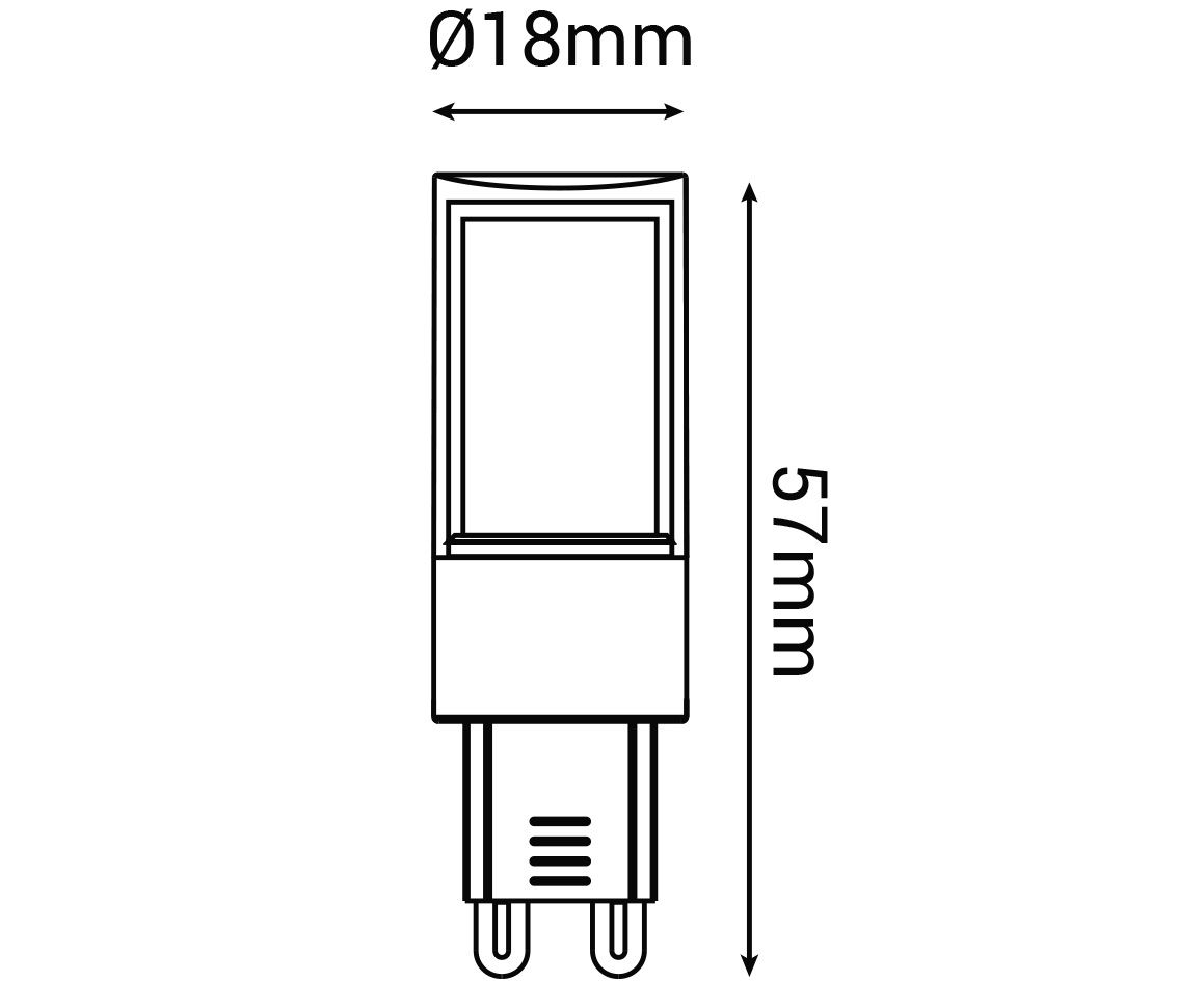 Lampada LED G9 3w 2700k Branco Quente DIMERIZAVEL 127v LP30456  - OUTLED ILUMINAÇÃO
