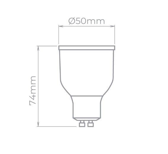 LAMPADA LED GU10 RGBW 5W DICROICA 200LM STH7590/RGBW  - OUTLED ILUMINAÇÃO