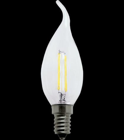 LAMPADA LED VELA 4W FILAMENTO CHAMA E14 COM BICO 2400K BIVOLT LP 31859