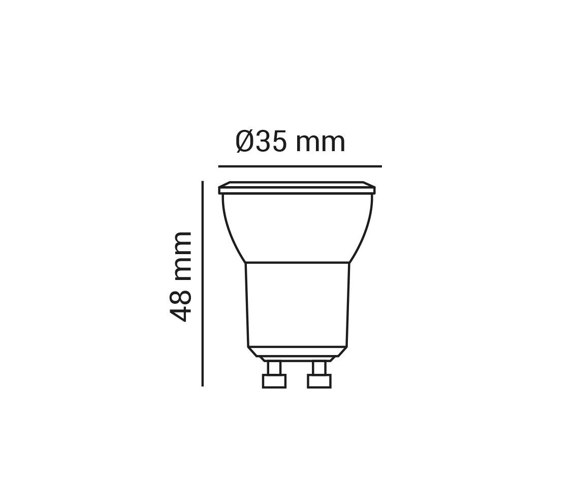 Lampada MINI DICROICA 3.5w LED 6500k Branco Frio MR11 GU10 LP 37110