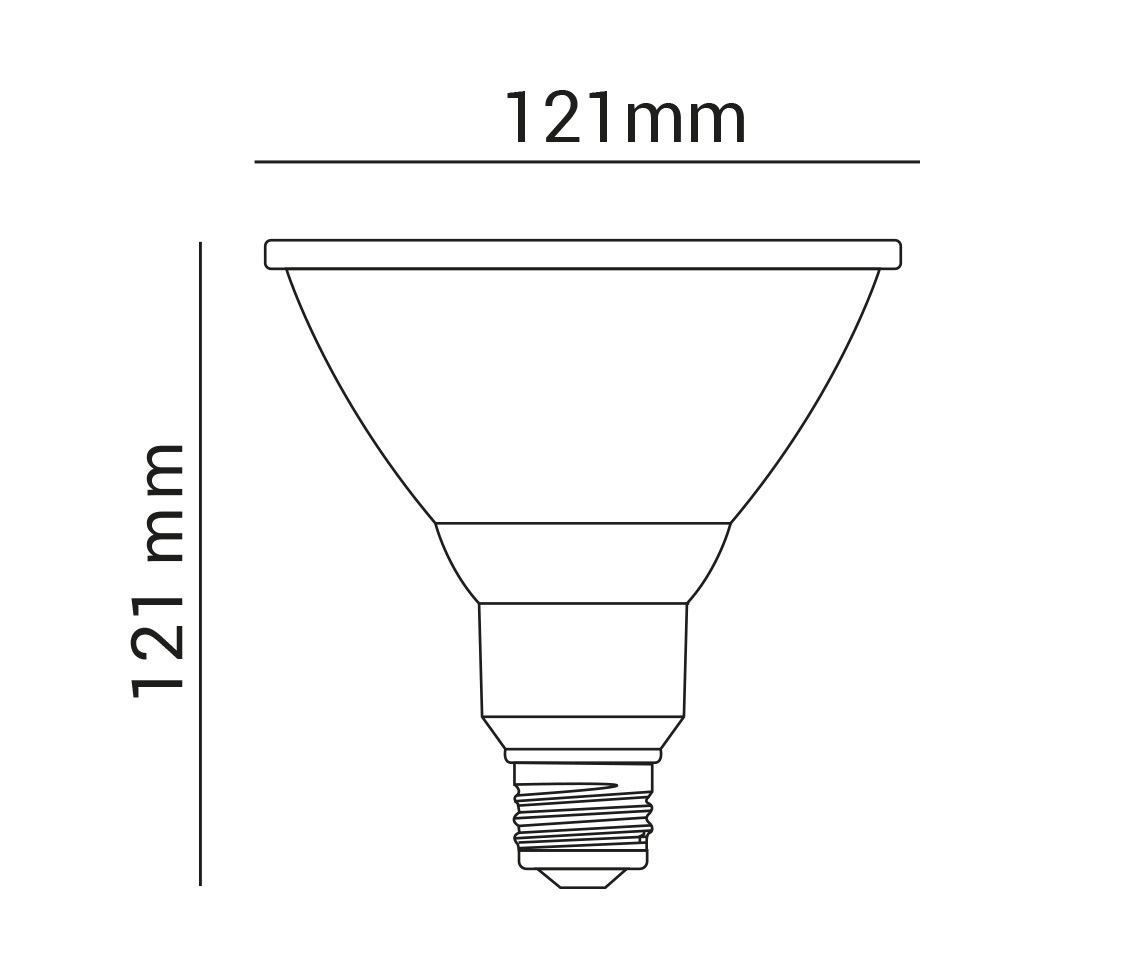 Lâmpada PAR38 14w LED 6500k Branco Frio 1000Lm 36º  E27 Bivolt LP 37257