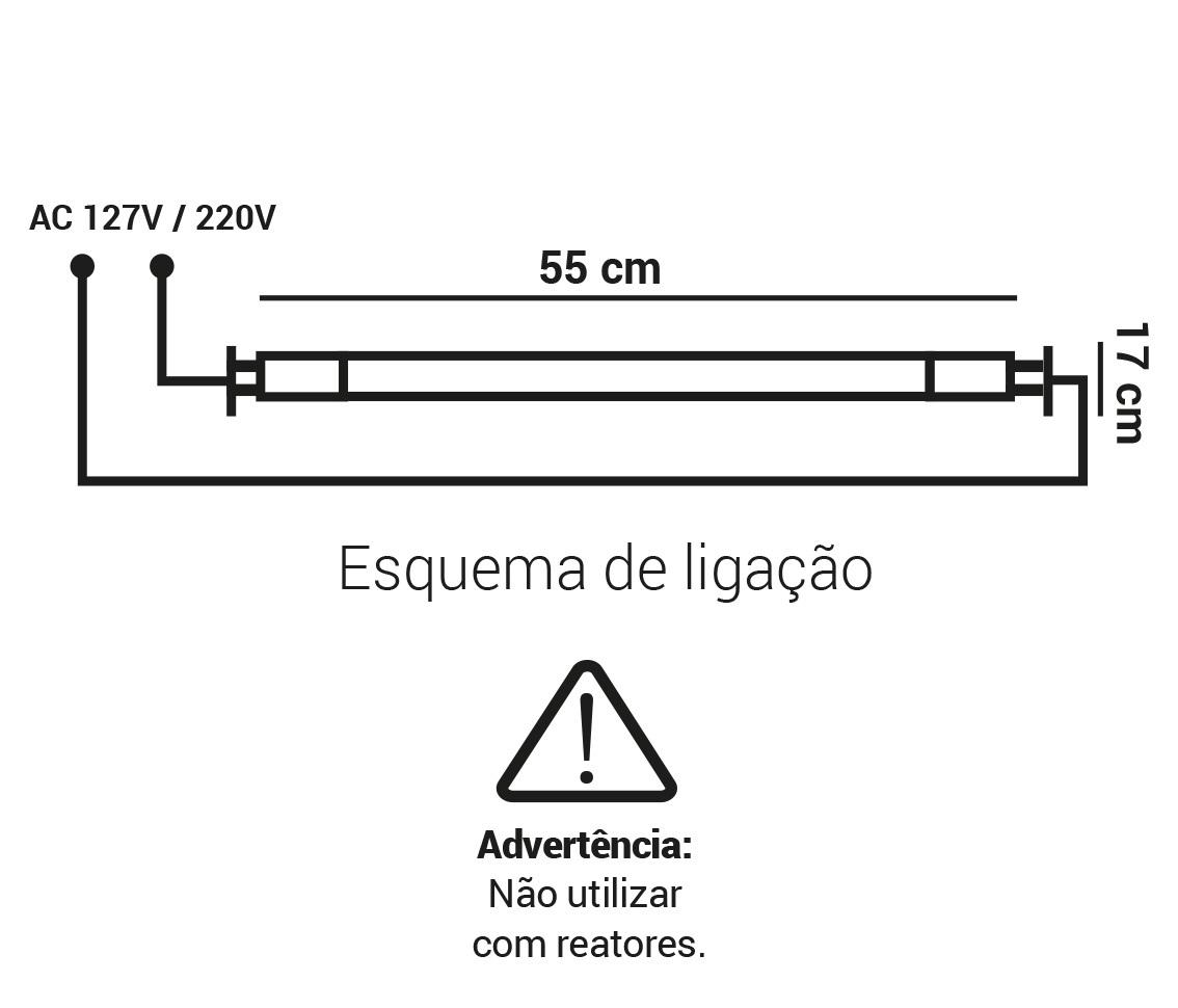 LAMPADA TUBULAR T5 09W LED 6500K BRANCO FRIO G5 BIVOLT LP 35079