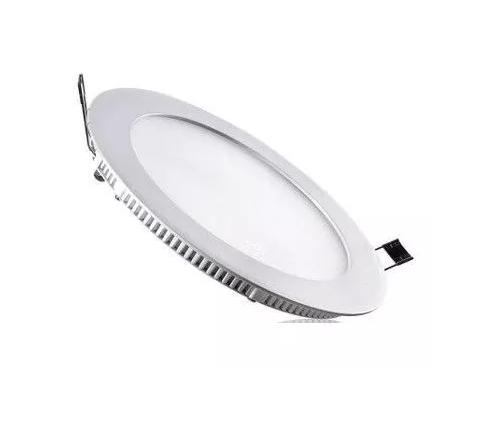 Plafon 12w 6000k LED Painel Embutir Redondo Slim Branco Frio