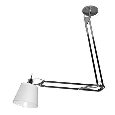 Luminaria Articulada Scope 142cm E-27 HU1002C Cromado Branco  - OUTLED ILUMINAÇÃO