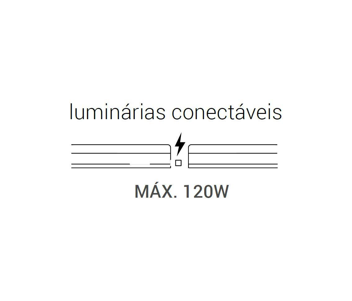 LUMINÁRIA CONECTÁVEL 18W 3000K BRANCO QUENTE LÍNEA 1,2M BIVOLT ECO 32955