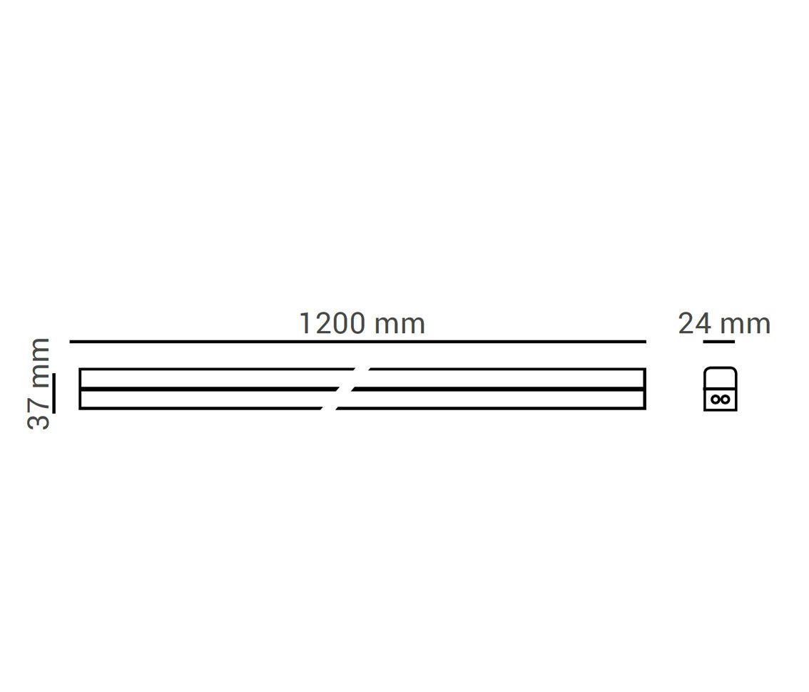 LUMINARIA T5 CONECTAVEL 16W LED 4000K BRANCO MORNO LINEA 120CM ECO 32962