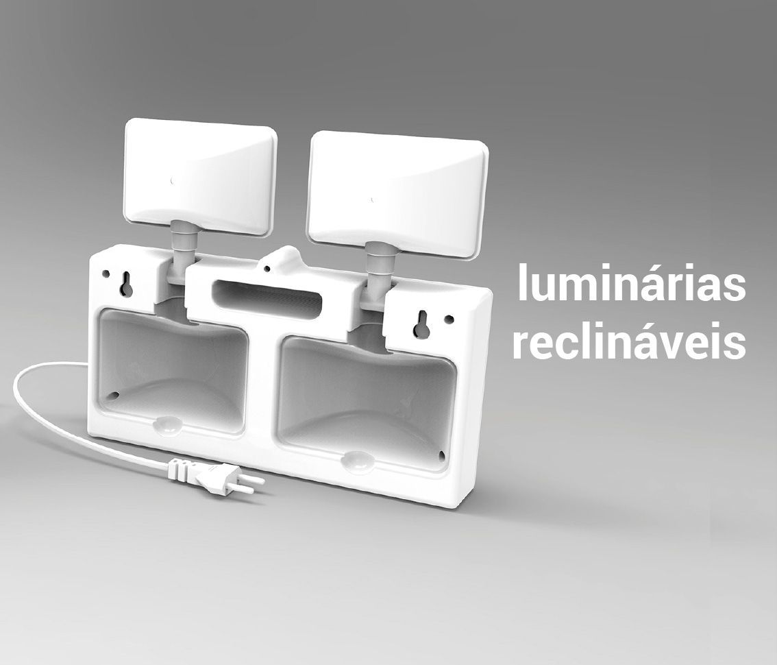 Luminária de Emergência 12w 6500k Branco Frio Bivolt Pro 31248  - OUTLED ILUMINAÇÃO