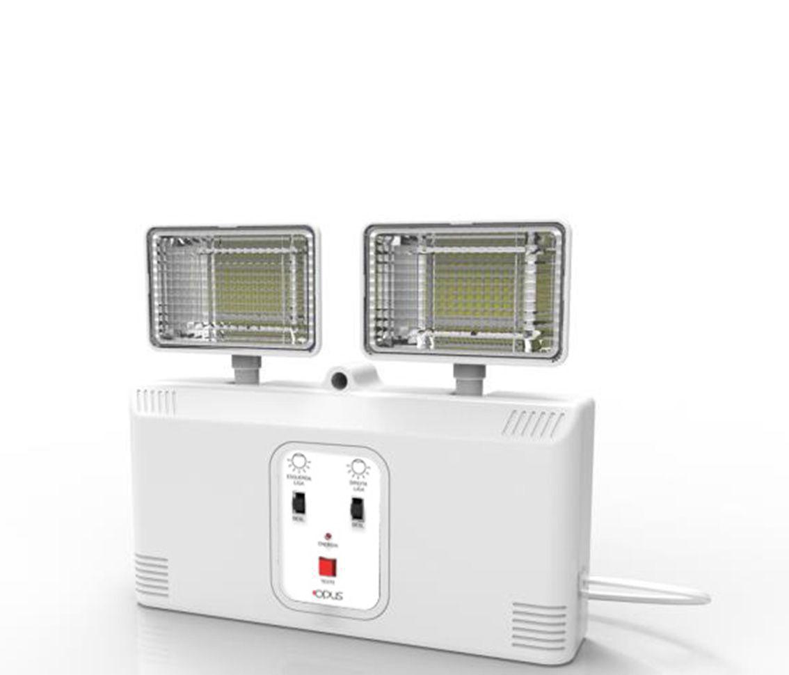 Luminária de Emergência 24w 6500k Branco Frio Bivolt Pro 30913  - OUTLED ILUMINAÇÃO