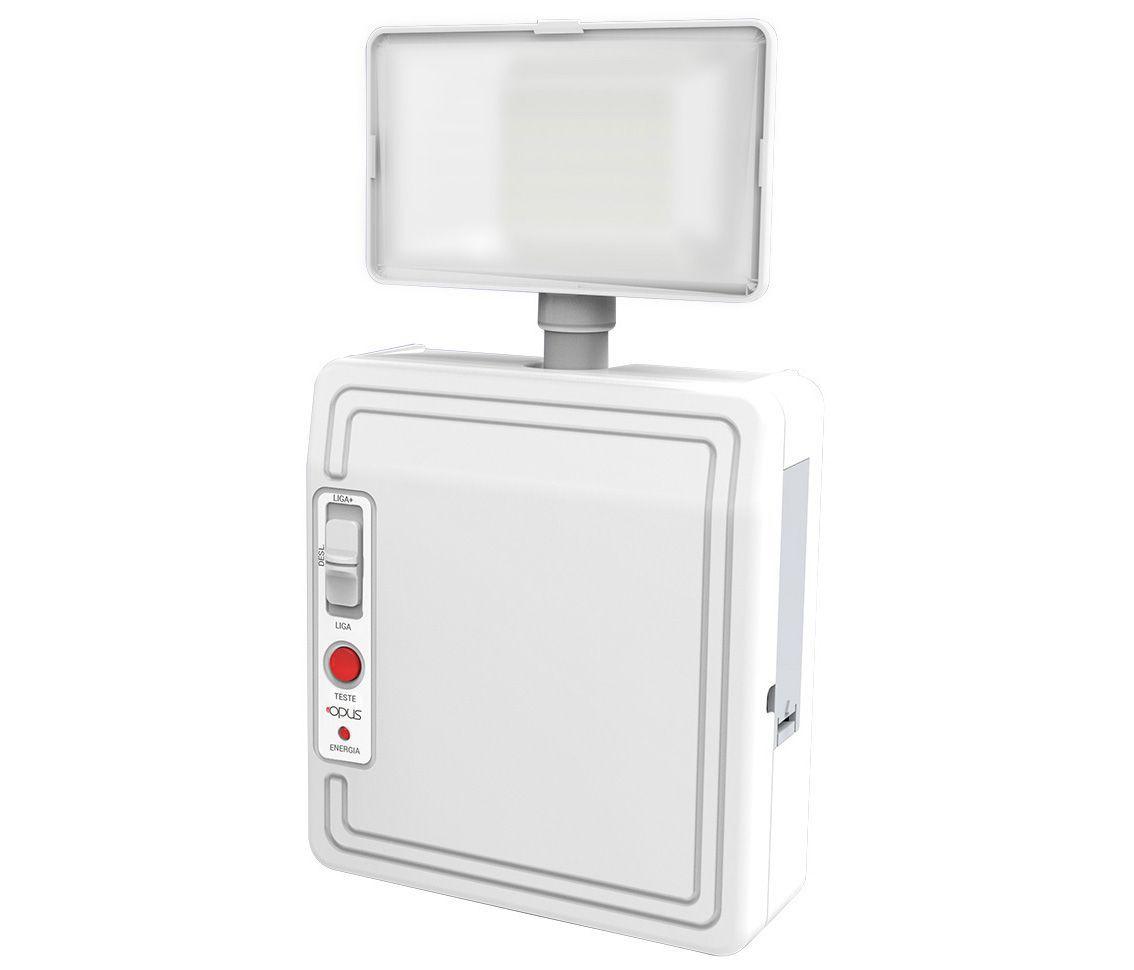Luminária de Emergência 3w 6500k Branco Frio Bivolt Pro 30302  - OUTLED ILUMINAÇÃO