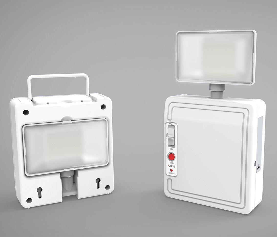 Luminária de Emergência LED 3w 6500k Branco Frio Bivolt Pro 30302