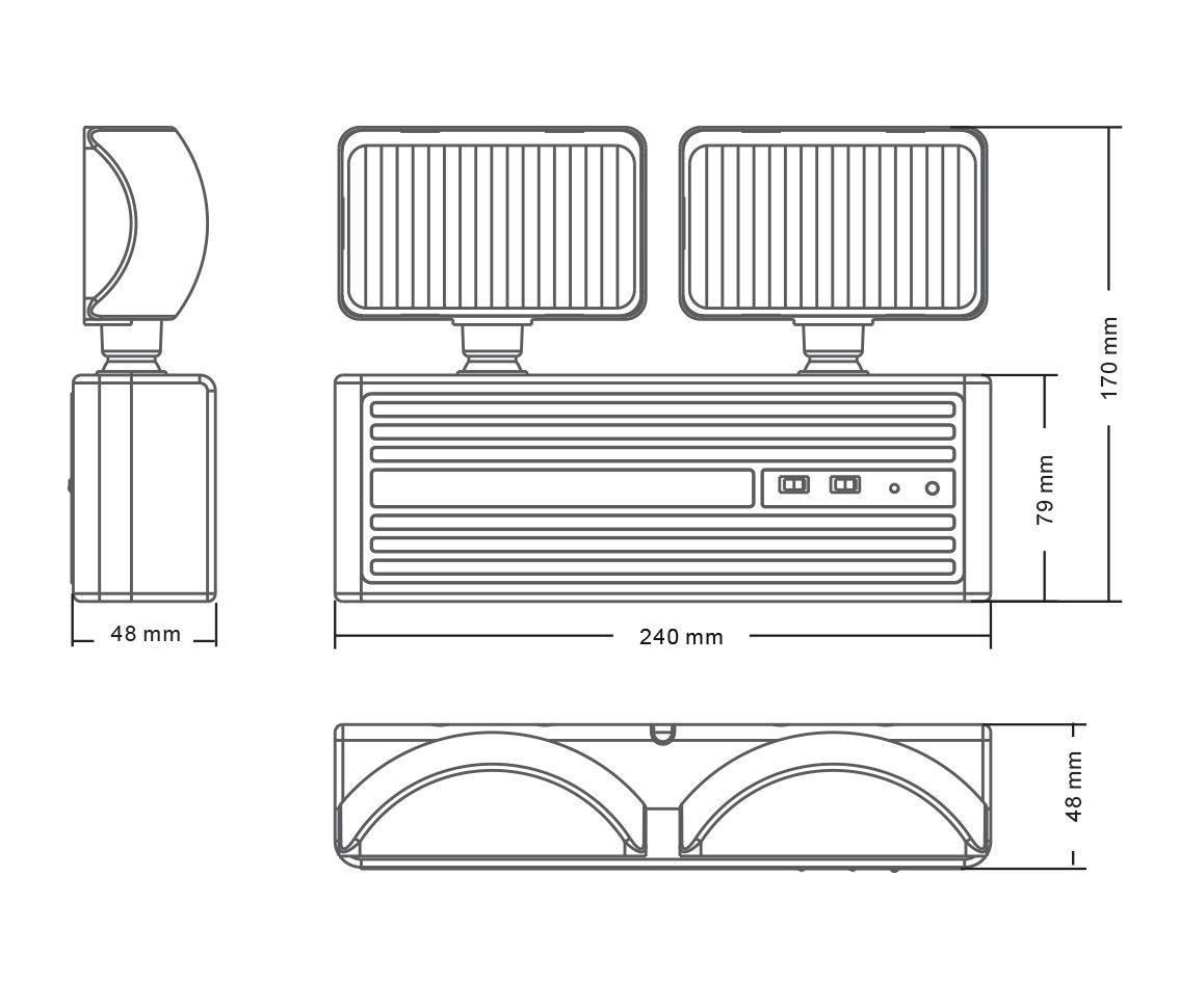 Luminária de Emergência 3w 6500k Branco Frio Bivolt Pro 33792