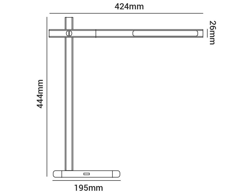 Luminária de Mesa 20w LED Multicor Dimerizavel 1000ml HASHI HM 38674 Cinza