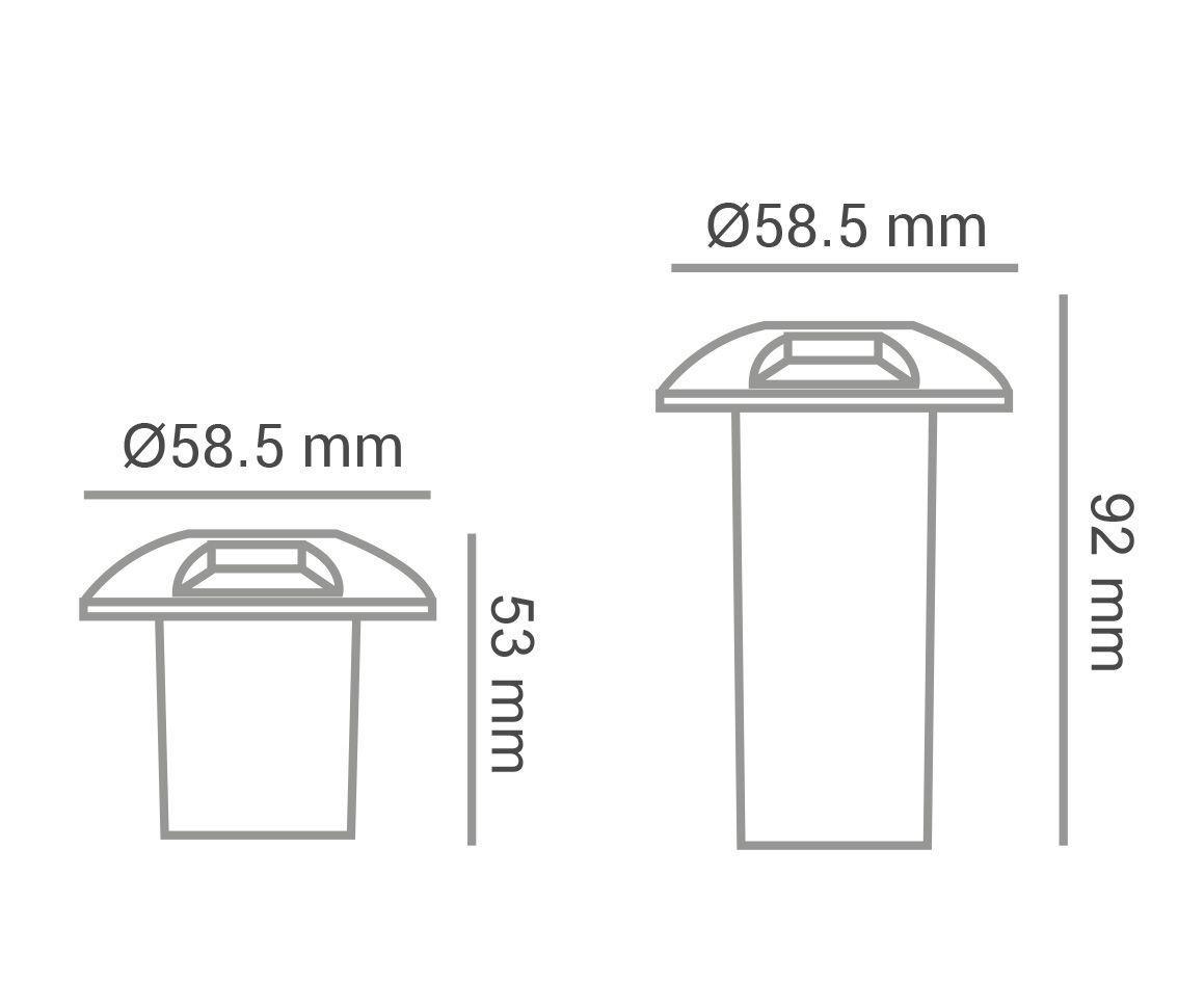 Luminária Embutida Solo 0.75w 2700k Branco Quente Trace 1x Bivolt Pro 33525