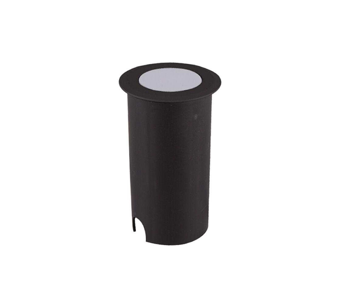 Luminária Embutida De Solo 0.85w 2700k Branco Quente Mini Preto Bivolt Pro 33563
