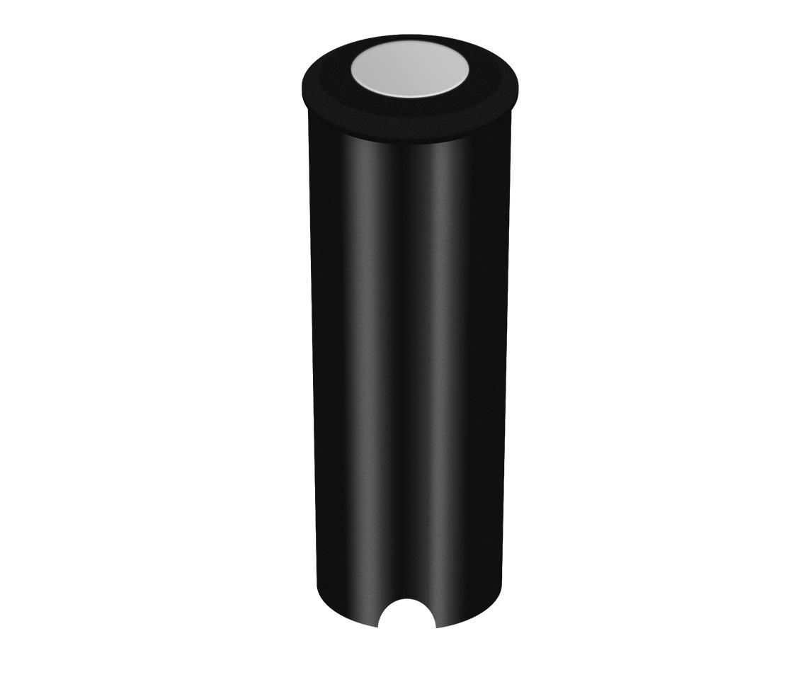 Luminaria Embutir Solo 0.45w 2700k Branco Quente Nano Balizador Preto Piso Pro 33587