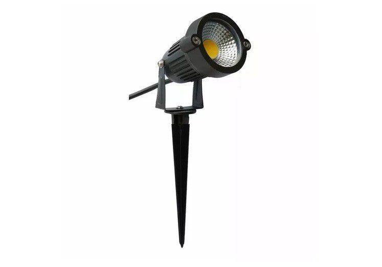 Espeto 5w 3000k LED Luminaria COB para Jardim Branco Quente  - OUTLED ILUMINAÇÃO